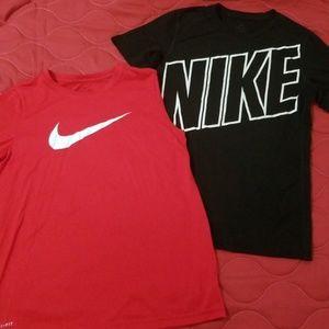Boys Nike shirts size large